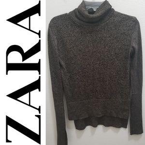 ZARA KNIT Black & Brown Sweater
